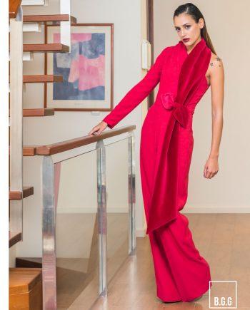 vestido largo rojo para bodas