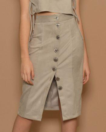 falda tubo kaki BGG Couture