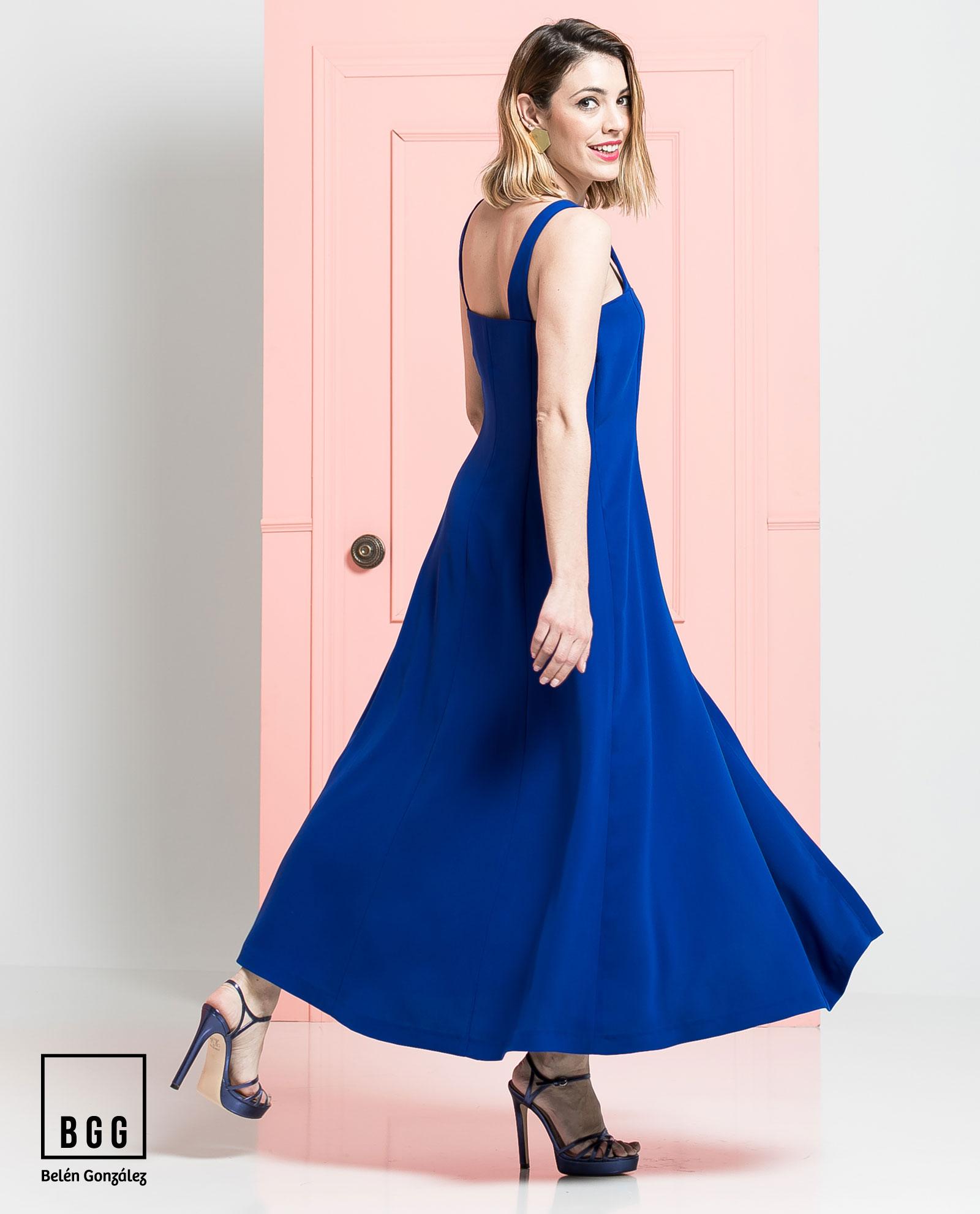 Asombroso Vestido Azul Boda Real Patrón - Colección de Vestidos de ...