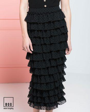 Falda de fiesta negra Geovanna