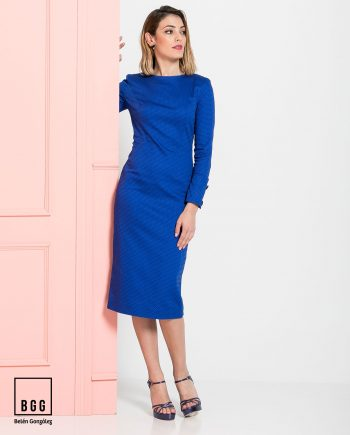 Vestido de fiesta azul Lionetta