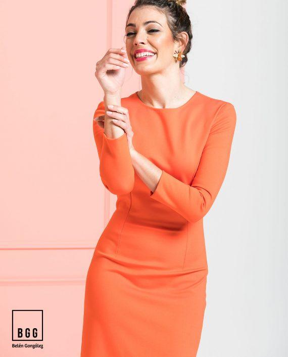 Vestido de fiesta naranja